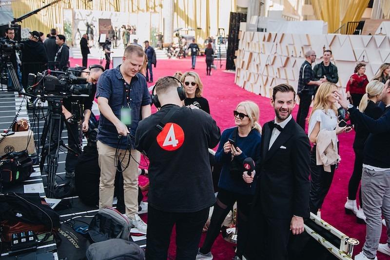 """Röda mattan är i full gång för Oscarsgalan 2020: """"Vänta, vem är det där?"""""""